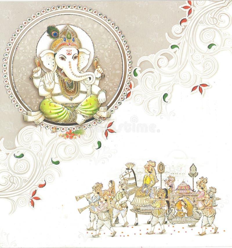 indiskt bröllop för kort vektor illustrationer