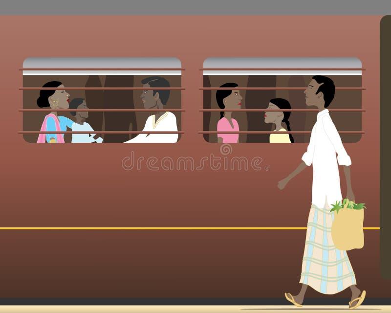 indiskt drev royaltyfri illustrationer