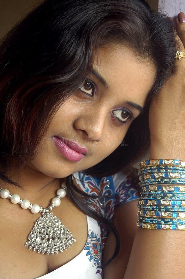 indiskt kvinnabarn royaltyfri bild