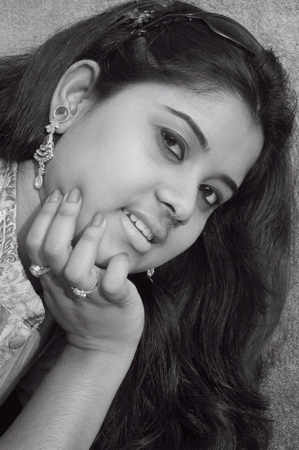 indiskt kvinnabarn fotografering för bildbyråer