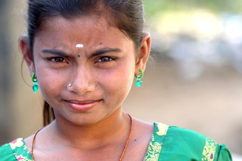 indiskt lantligt tonårs- för flicka royaltyfri foto