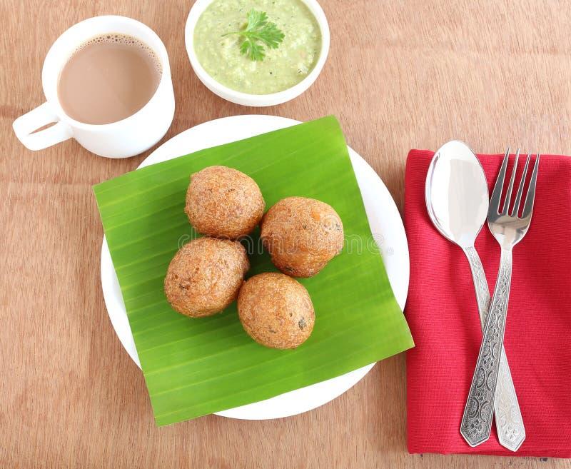 Indiskt mellanmål Mangalore Bajji royaltyfri fotografi