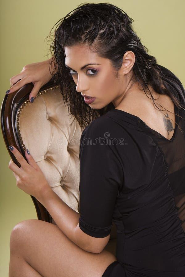 indiskt model sexigt för glamour arkivbild