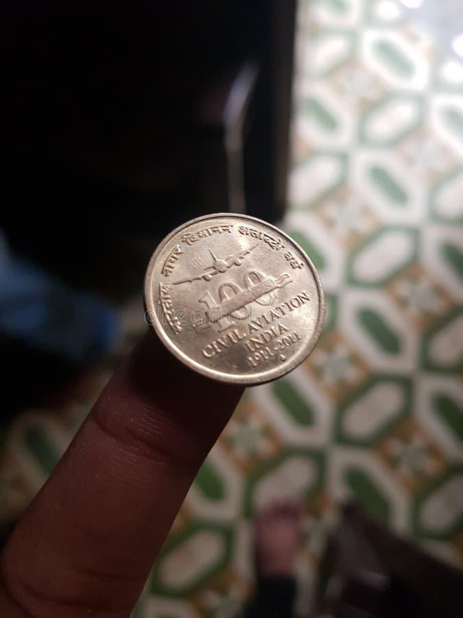 Indiskt mynt royaltyfria foton