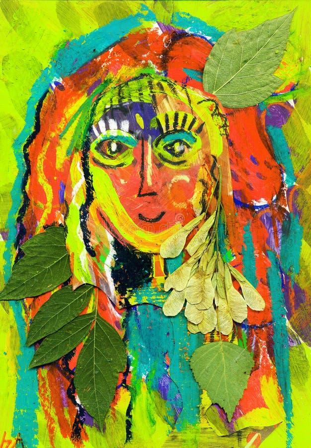 indiskt naturfolk för flicka royaltyfri illustrationer