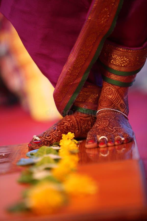 indiskt rituellt bröllop arkivbilder