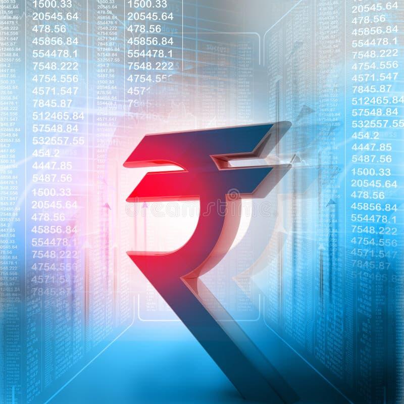 indiskt rupeesymbol royaltyfri illustrationer