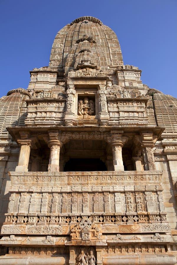 Indiskt tempel i Chittorgarh - Indien royaltyfria foton