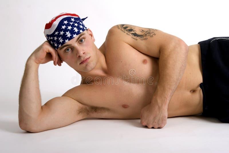 Indivíduo americano foto de stock