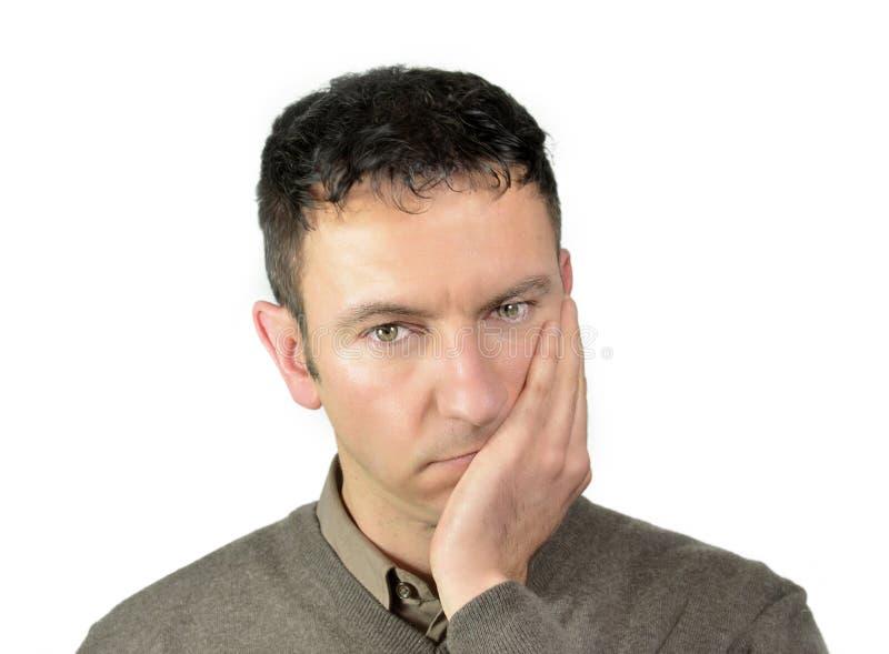 Indivíduo atrativo que sofre do toothache fotos de stock