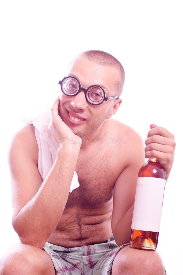 Indivíduo bêbado do lerdo nos monóculos fotos de stock royalty free