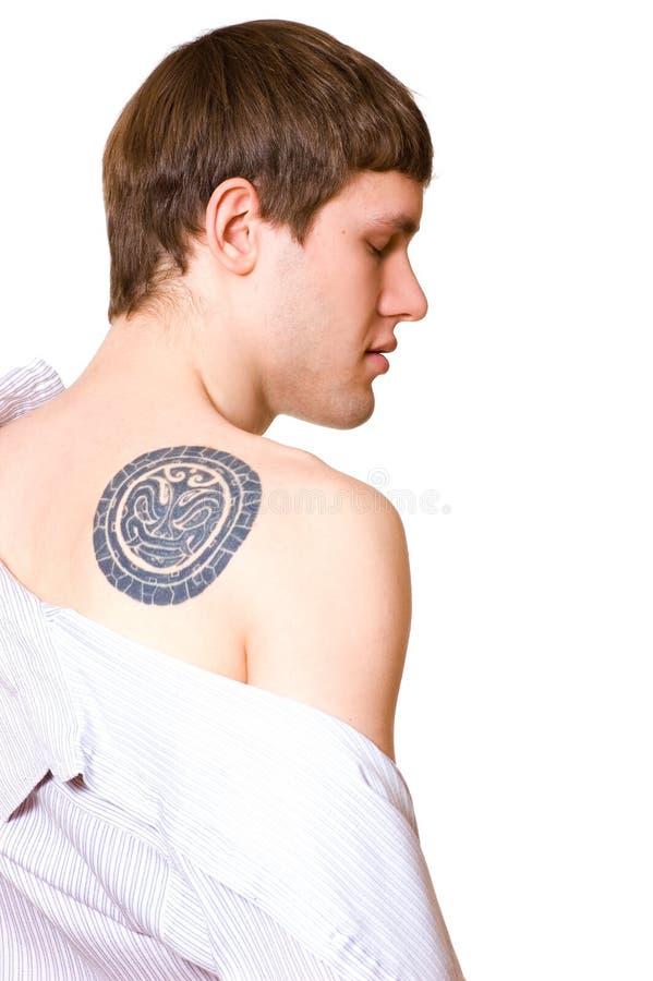Indivíduo considerável com tatoo foto de stock royalty free