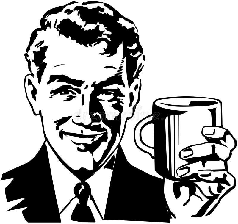 Indivíduo do café ilustração do vetor