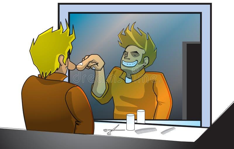 Indivíduo do espelho imagens de stock