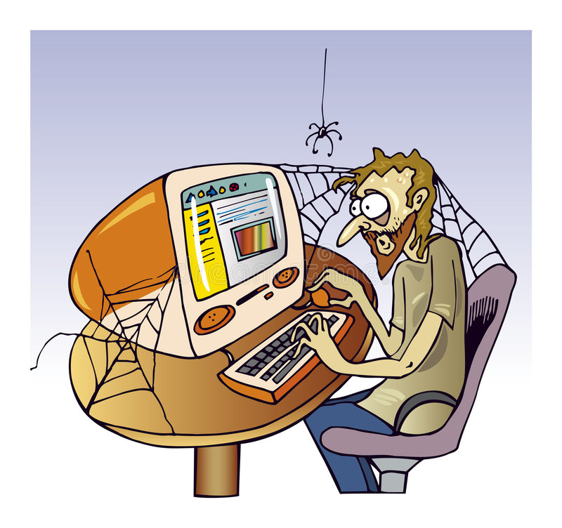 Indivíduo do Internet ilustração do vetor