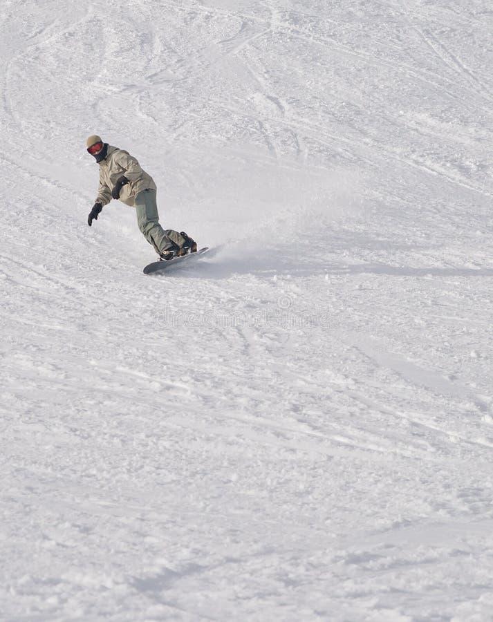 Indivíduo do Snowboarder fotos de stock