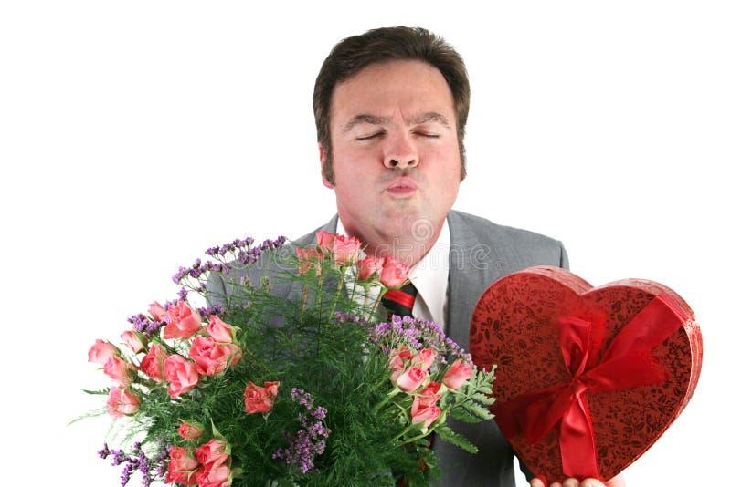 Indivíduo do Valentim - beije-me fotos de stock royalty free