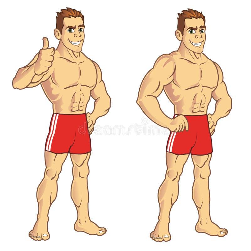 Indivíduo muscular ilustração do vetor