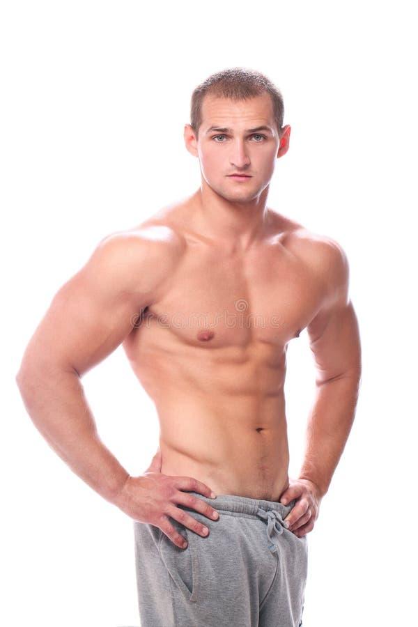 Indivíduo muscular novo e 'sexy' fotos de stock