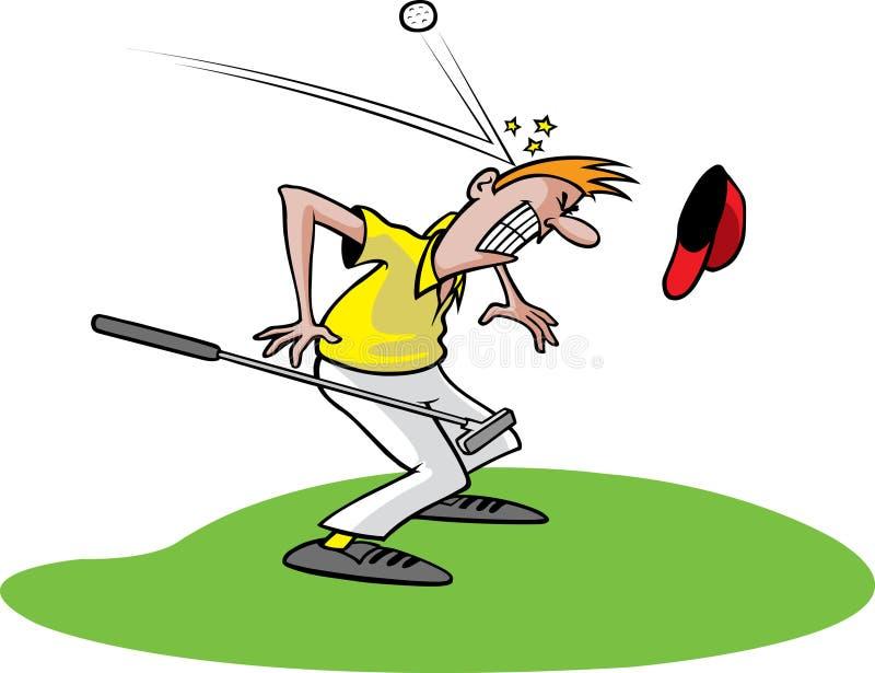 Indivíduo pateta 1 do golfe ilustração do vetor