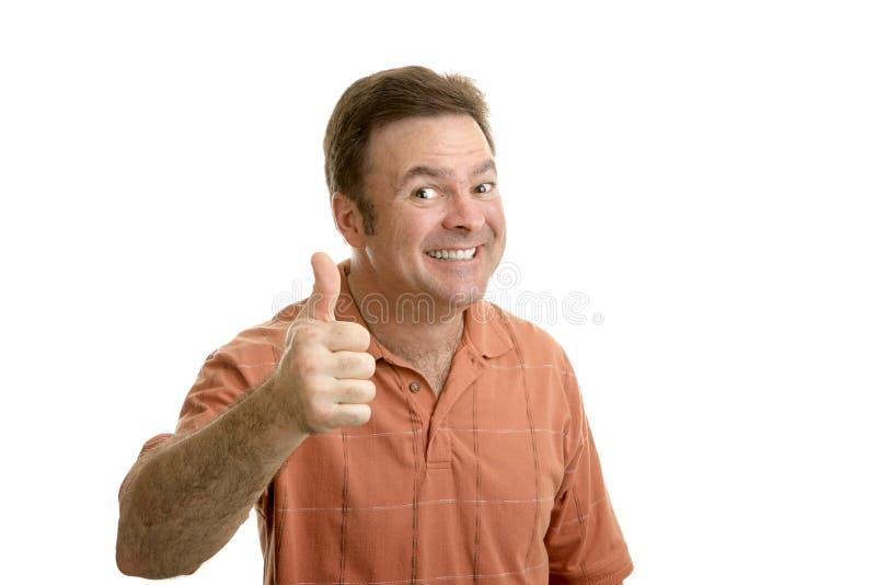 Indivíduo regular Thumbsup imagem de stock