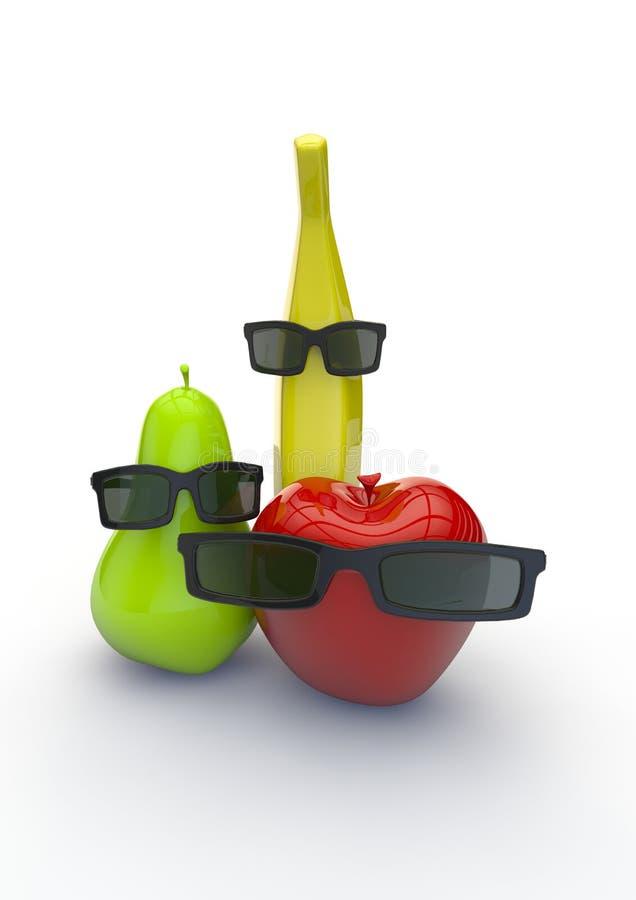 Indivíduos da fruta ilustração do vetor