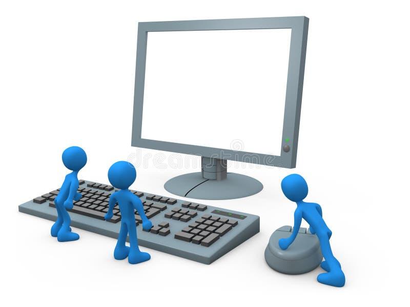 Indivíduos do computador ilustração do vetor