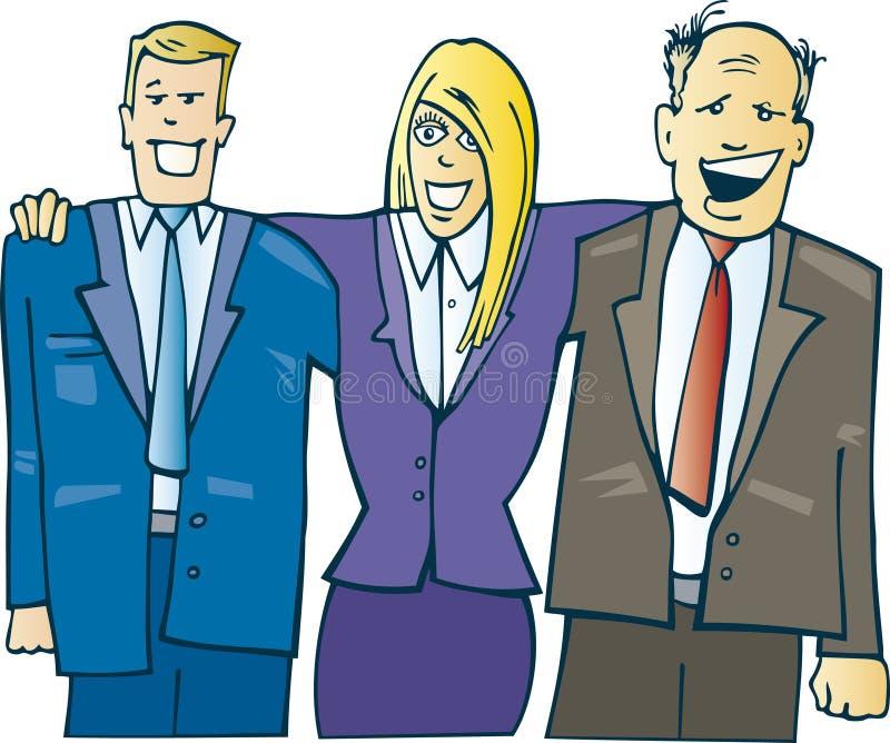 Indivíduos do negócio no escritório ilustração stock