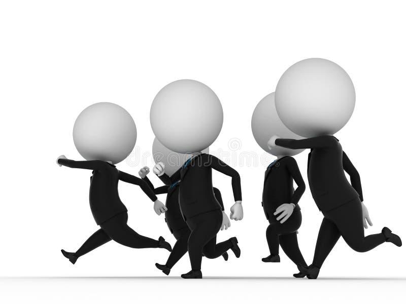 Indivíduos Running ilustração do vetor