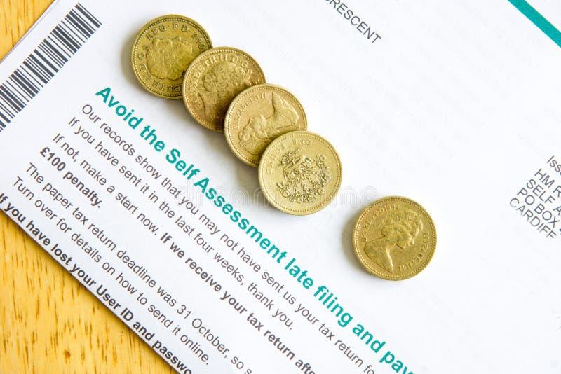 Individu Assesment de déclaration d'impôt photo stock