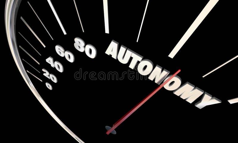 Individu d'autonomie conduisant des véhicules de voitures autonomes illustration de vecteur