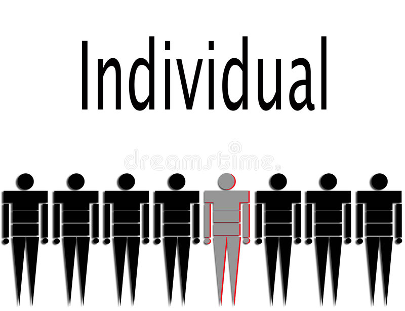 Individual ilustração royalty free