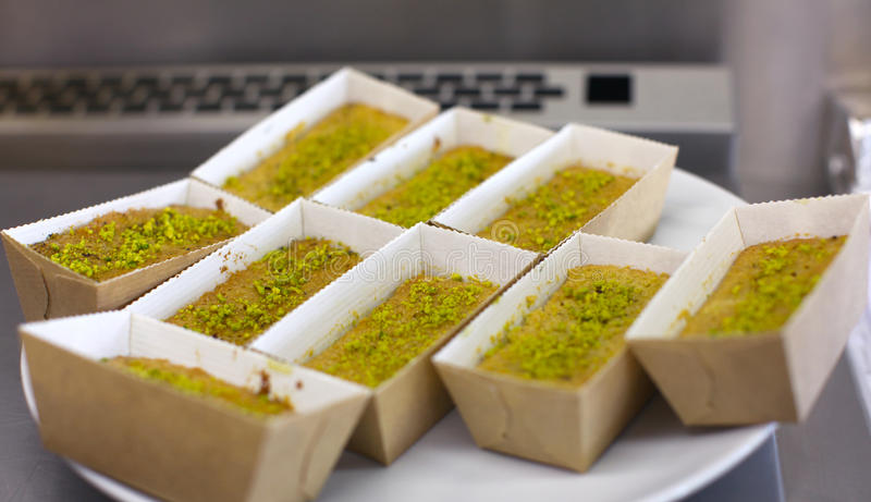 Individual Cakes With Pistachios Stock Image