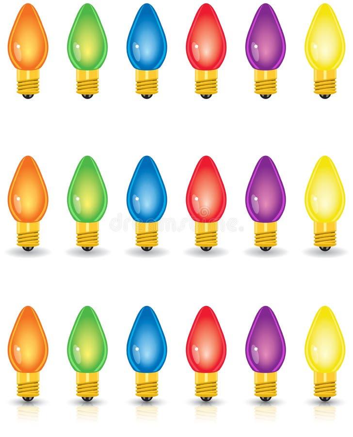 Individual Colored Christmas Lights royalty free stock photos
