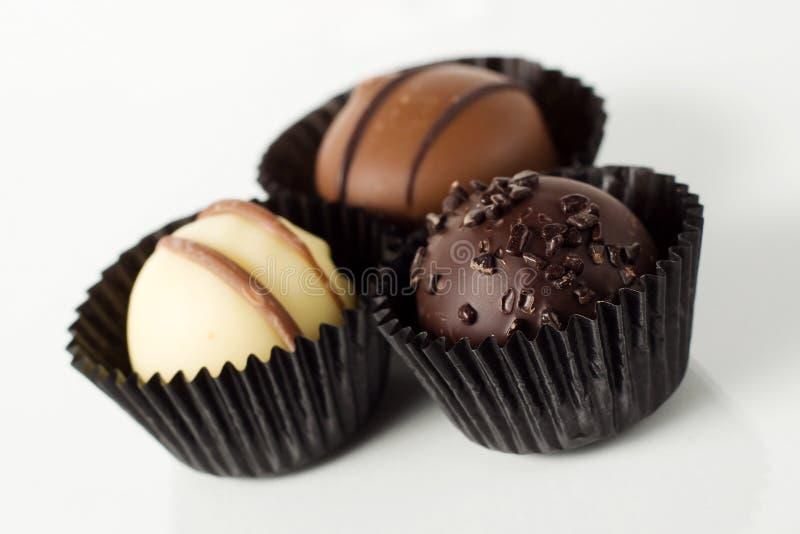 Individual Handmade Truffles Royalty Free Stock Images