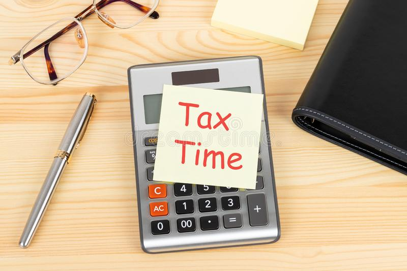 Individual income tax time, concept for taxation stock photography