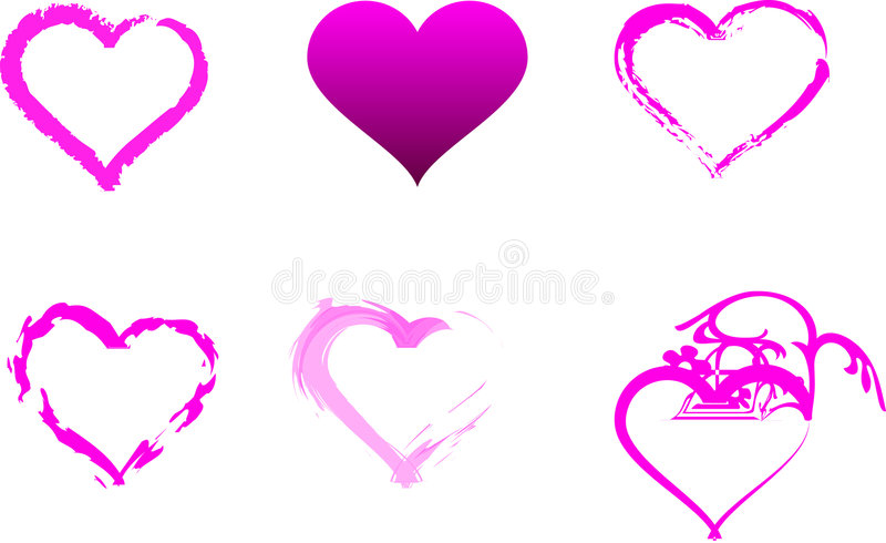 Download Individual Pink Hearts Royalty Free Stock Photography - Image: 7525257