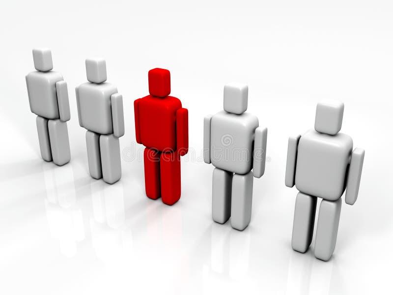 Download Individualidade Em Uma Equipe Ilustração Stock - Ilustração de individual, reunião: 10057329