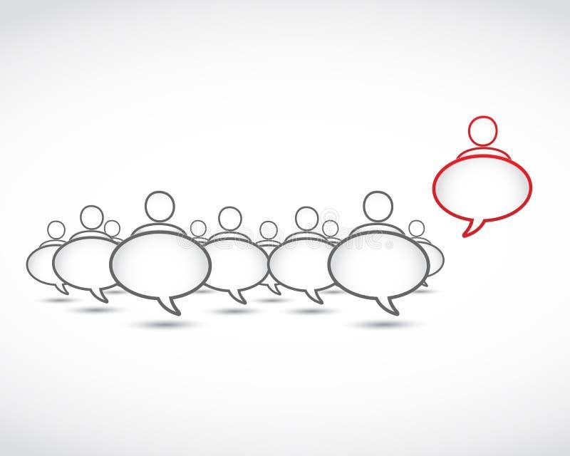 Individualidade, estando para fora o conceito ilustração stock