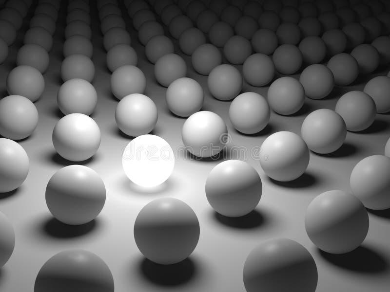 individualismo e unicidade do conceito 3D ilustração royalty free