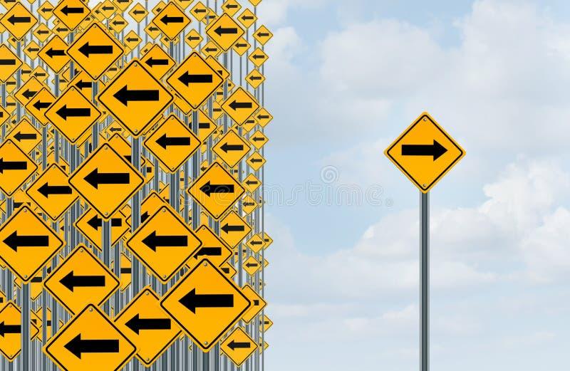 Individualità di direzione illustrazione di stock
