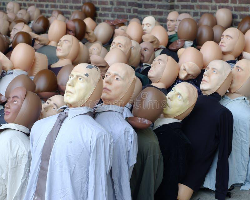 Individualität. Ein Gesicht in der Masse. lizenzfreies stockfoto