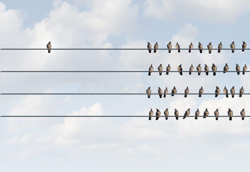 Individualitäts-Symbol stock abbildung