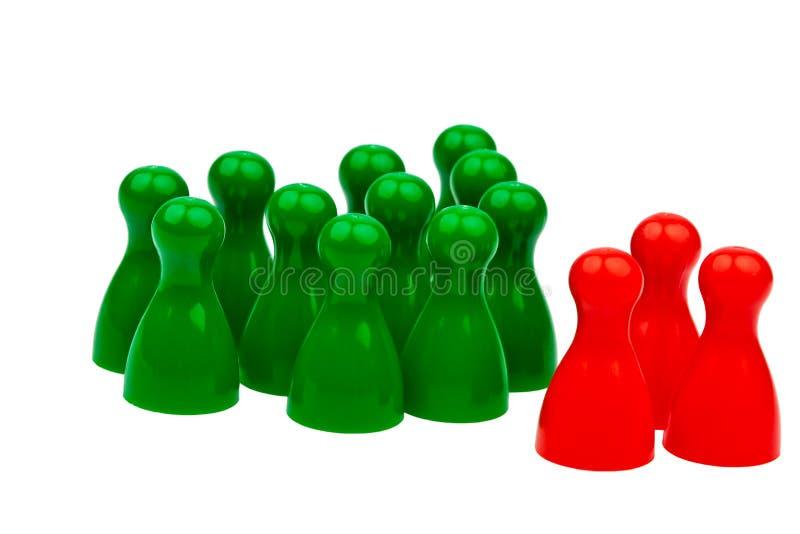 Individualité dans l'équipe. soyez différent. image stock