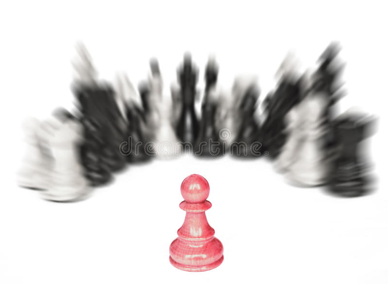 Individuality conceptual image. One against all royalty free stock photography