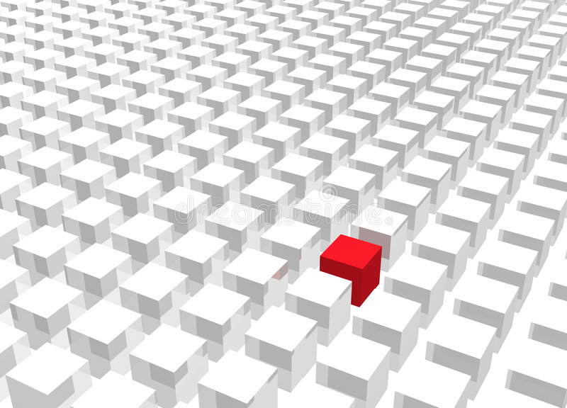 Download Individuality Standing Out From The Crowd Stock Illustration - Image: 5909003