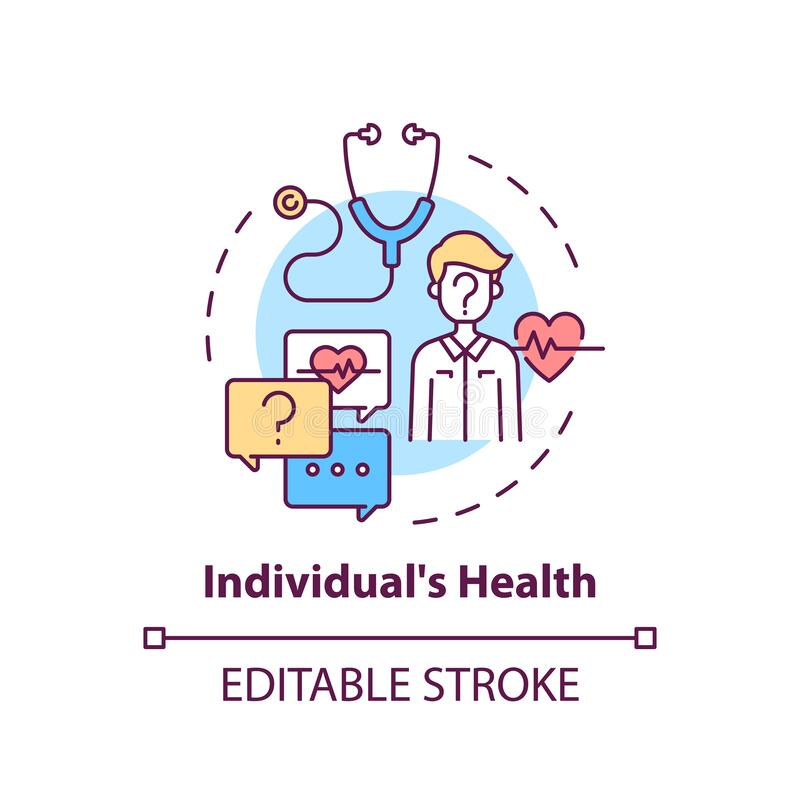 Free Individuals Health Concept Icon Royalty Free Stock Photo - 214643855