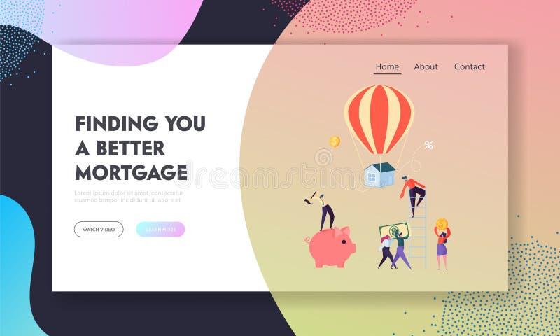Individuazione della pagina migliore di atterraggio di ipoteca Mutuatario che prova duro paga sul prestito Fondi di aumento del c royalty illustrazione gratis