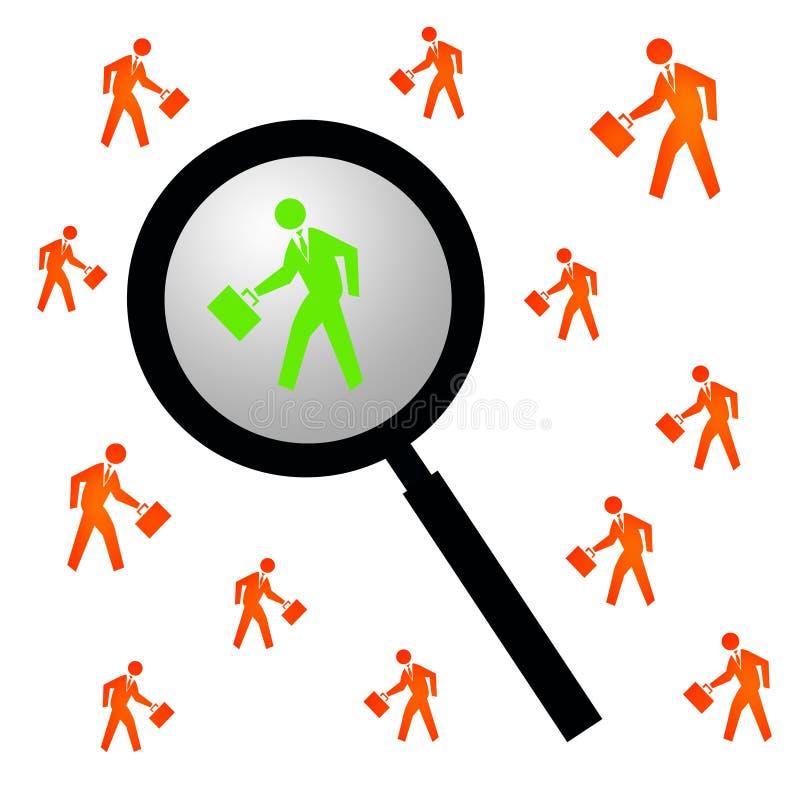 Individuazione della persona giusta illustrazione di stock