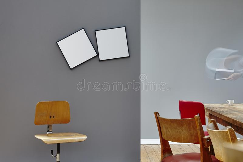 Individuele creatieve het werkatmosfeer van de conferentieruimte royalty-vrije stock afbeeldingen